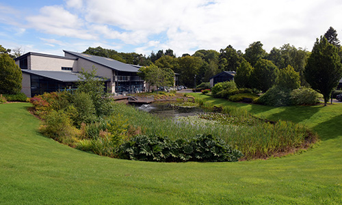 The grounds of EPP's Glencorse Building at Pentlands Science Park