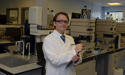 An EPP chemist works in the EPP laboratory